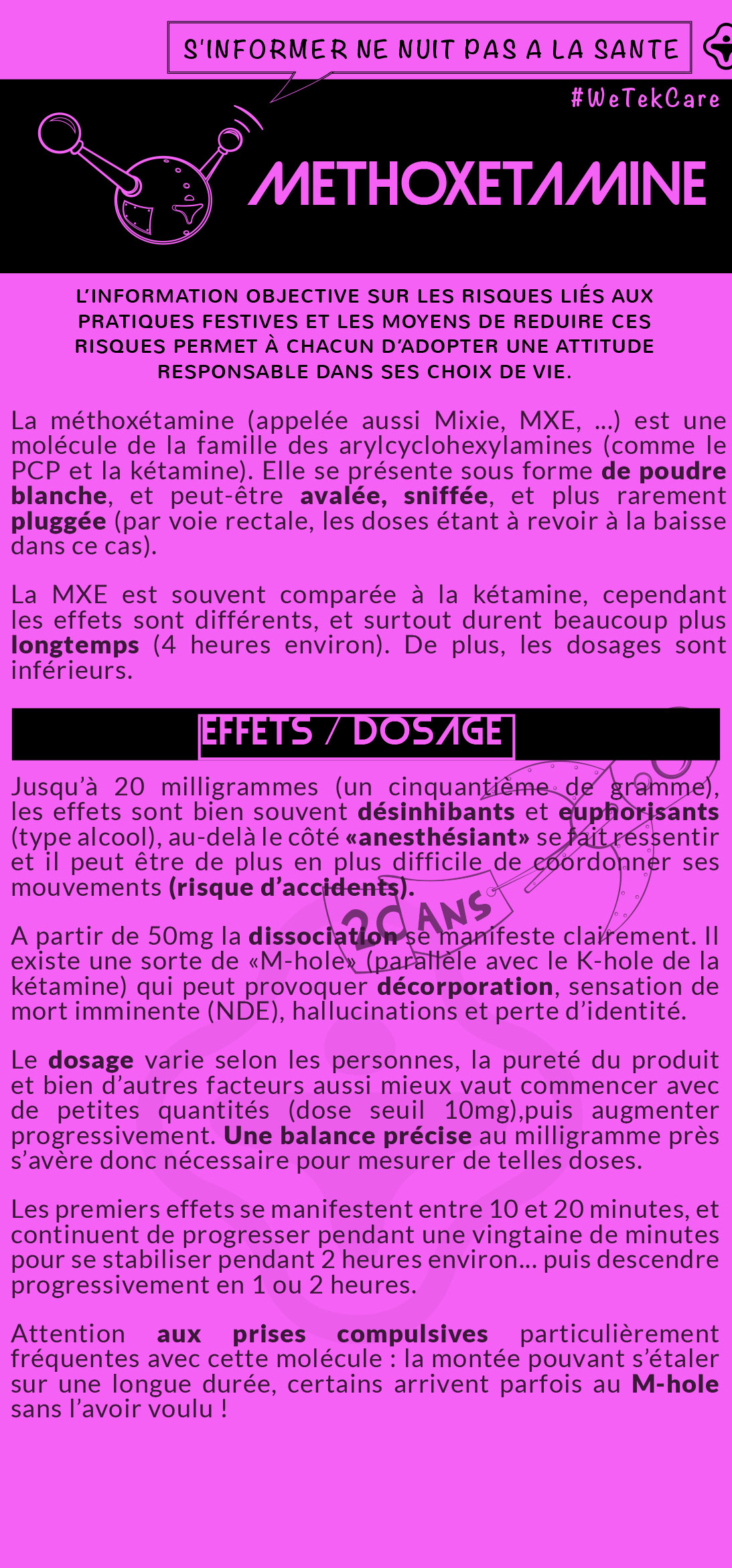Flyer Méthoxétamine 2016